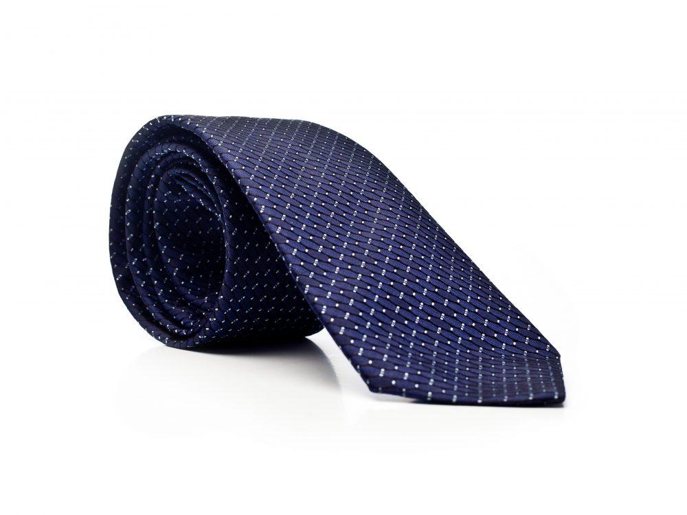 Krawat granatowy w elipsy
