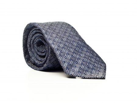 Krawat niebiesko-szary w romby