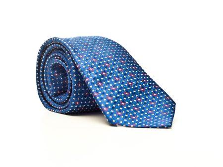 Krawat niebieski we wzór