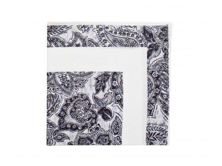 Poszetka Black/White Floral