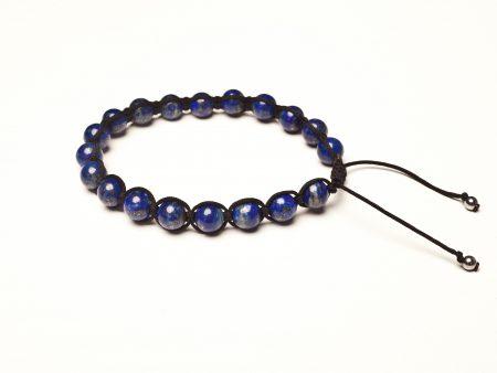 Bransoletka lapis lazuli połysk
