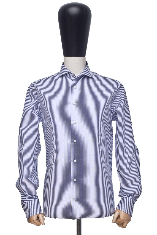 Koszula niebieski gruby prążek