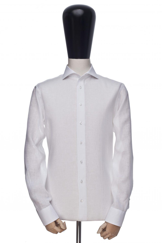 Koszula biała bawełna-len