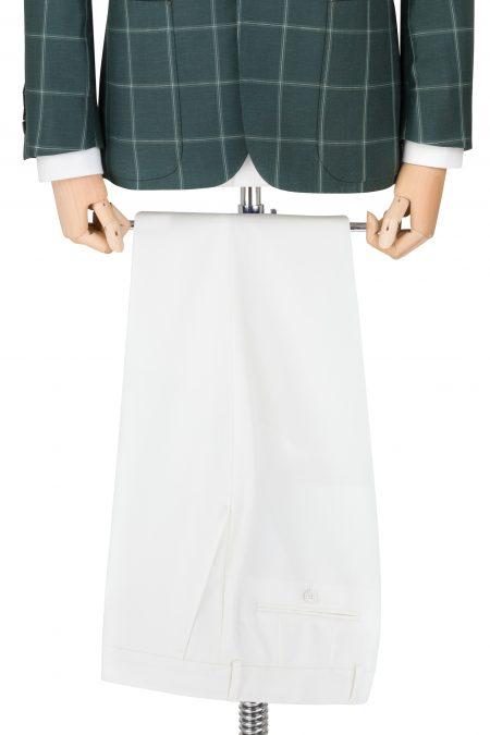 Spodnie bawełniane białe