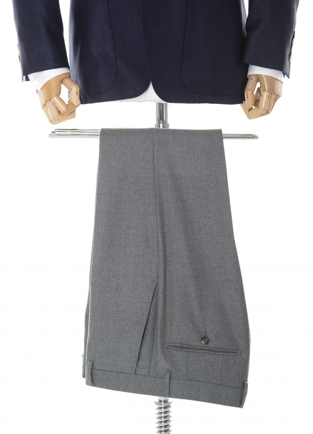 Spodnie wełniane szare