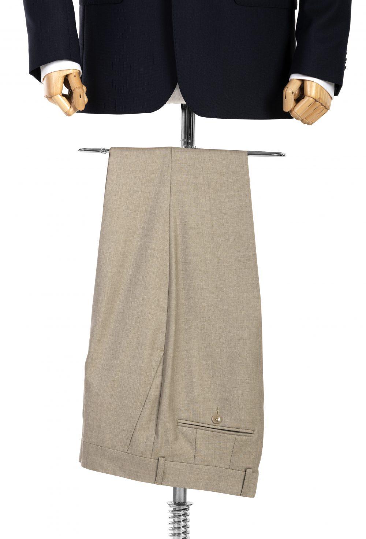 Spodnie wełniane beż